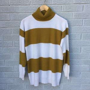 Madewell Wallace Striped Turtleneck Sweater